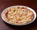 【通常価格】トマトソースとバジルのシンプルなピッツァ