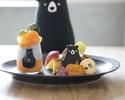かぼちゃのチーズケーキ&黒ごまぷりんのHalloweenプレート