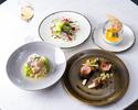 ランチ【前菜&お魚&お肉料理&デザート】全4品+シャンパン1杯