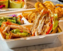 [TAKE OUT] Kaiji Shamo Chicken Breast and Herb Egg Clubhouse Sandwich with Coffee or Tea