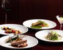 【選べる1ドリンク付 / DINNER COURSE】アミューズ、前菜、魚料理、肉料理、デザートの全5品