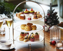Festive Celebration Afternoon Tea with a glass of Ruinart Blanc de Blancs Bar Counter Seats
